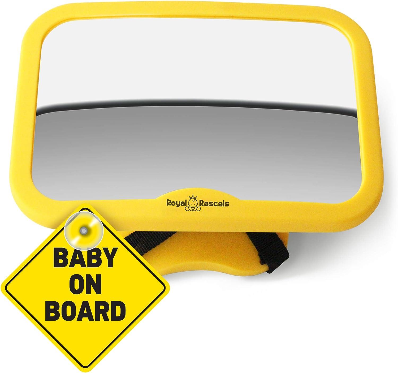 Rear View Car Seat Mirror for Rear Facing Babies Royal Rascals Baby Car Mirror