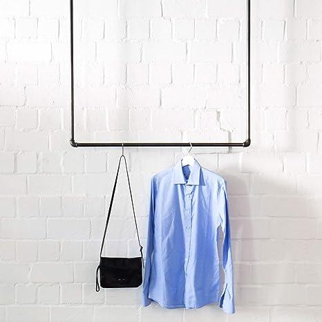 Various Deckenbefestigte Kleiderstange Im Industrie Design 100 X 100 Cm Schöne Wand Garderobe Zum Aufhängen Von Jacken Mänteln Schwarz Aus