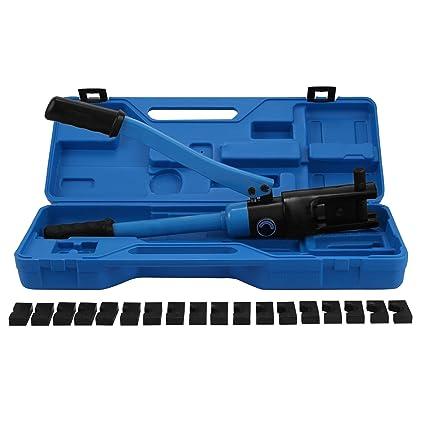 VEVOR Crimpadora Hidráulica gama 16-240mm2 Herramienta de Crimpadora Hidráulica para Cable Alicates 12 Ton