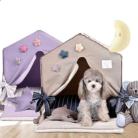 shanzhizui perrera Nido de gato Perros pequeños y medianos Casa de perro de Villa interior Four