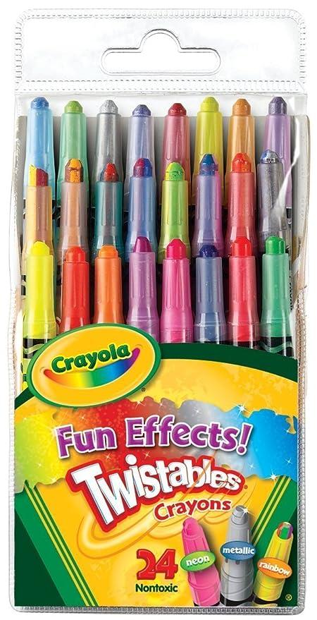 amazon com crayola fun effects mini twistables crayons 24 count 2