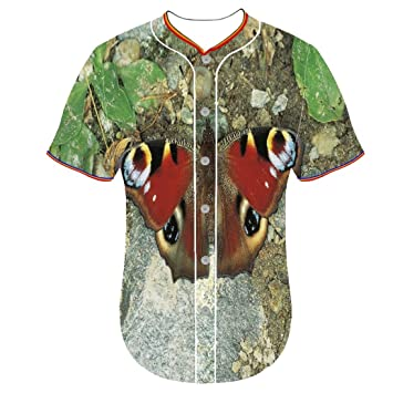 Equipo de béisbol Jersey jerseys mariposa PLD juventud ...
