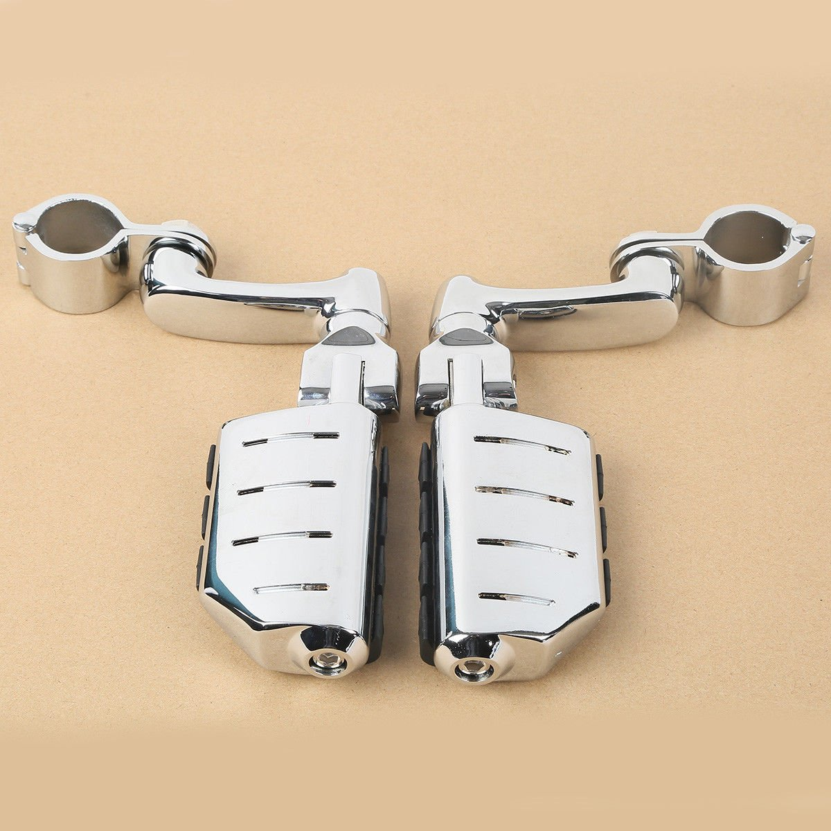 TCMT Universal Highway Foot Pegs Mount Fits For 32MM 1-1//4 Engine Guard Crash Bars