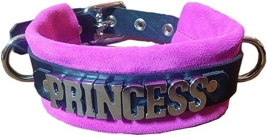 Pink Dog Collar  Girl Dog Collar  Small Dog Collar  Pearls  Puppy Collar  Prince and Princess USA  Faux Leather Dog Collar