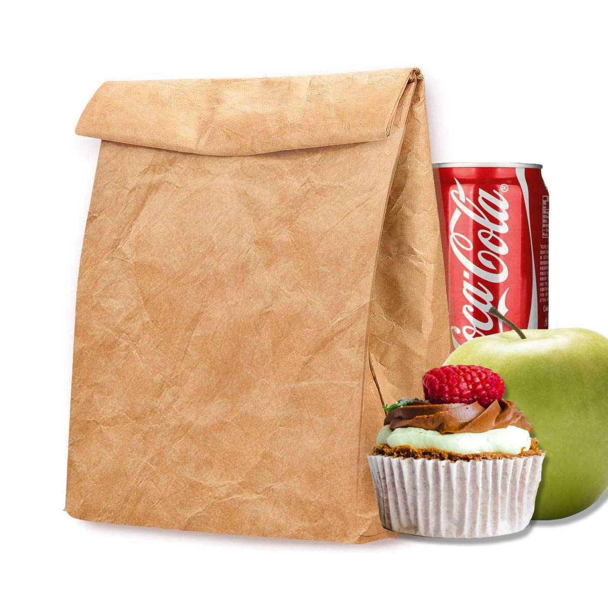 Eco Lunch Bag, Tyvek Lunch Box for Women Man, Reusable Insulated Paper Snack Bags for Work Picnic School
