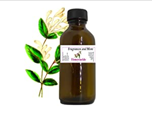HONEYSUCKLE FRAGRANCE OIL | For Soap Making| Candle Making| For Use with Diffusers| Add to Bath & Body Products| Home and Office Scents| 2 oz amber glass bottle
