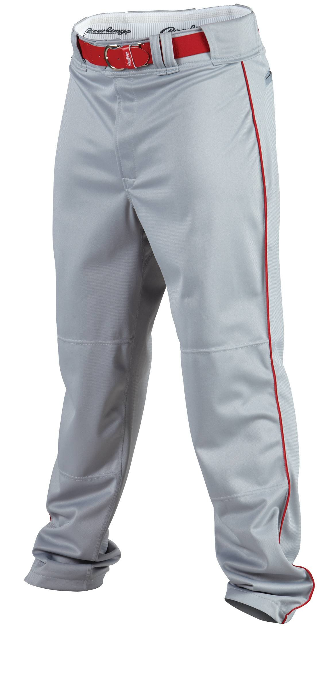 Rawlings Men's Baseball Pant (Blue Grey/Scarlet, Large) by Rawlings