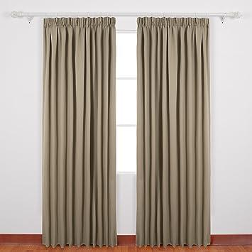 Vorhänge Schlafzimmer Verdunkeln amazon de deconovo gardinen blickdicht kräuselband vorhang