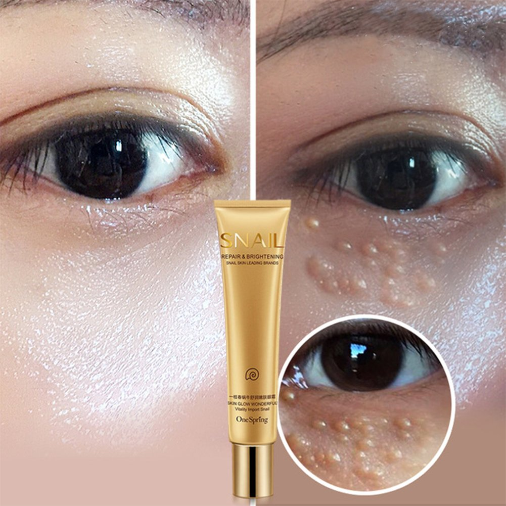Xuba snail Essence riparazione occhio crema sbiancante idratante anti-invecchiamento rimuovere occhiaie Eye Care Cream