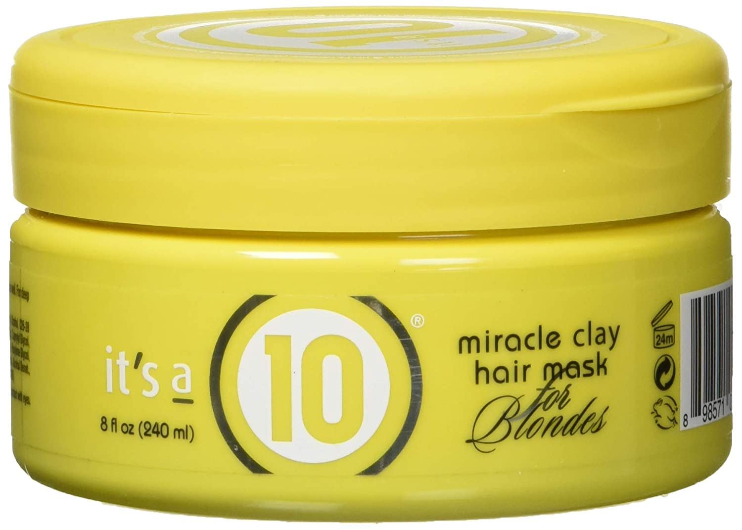 It's A 10 Miracle Clay Hair Mask for Blondes By Its A 10 for Unisex - 8 Ounce Hair Mask, 8 Ounce