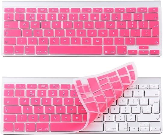 Rosa Funda de silicona para teclado UK Protector de pantalla ...