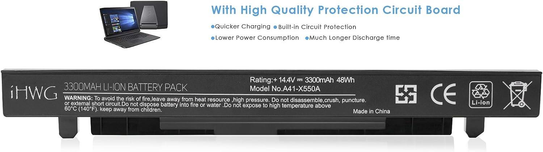 iHWG A41-X550A Alta Capacidad Batería 6 Celdas 3300mAh para ASUS ...