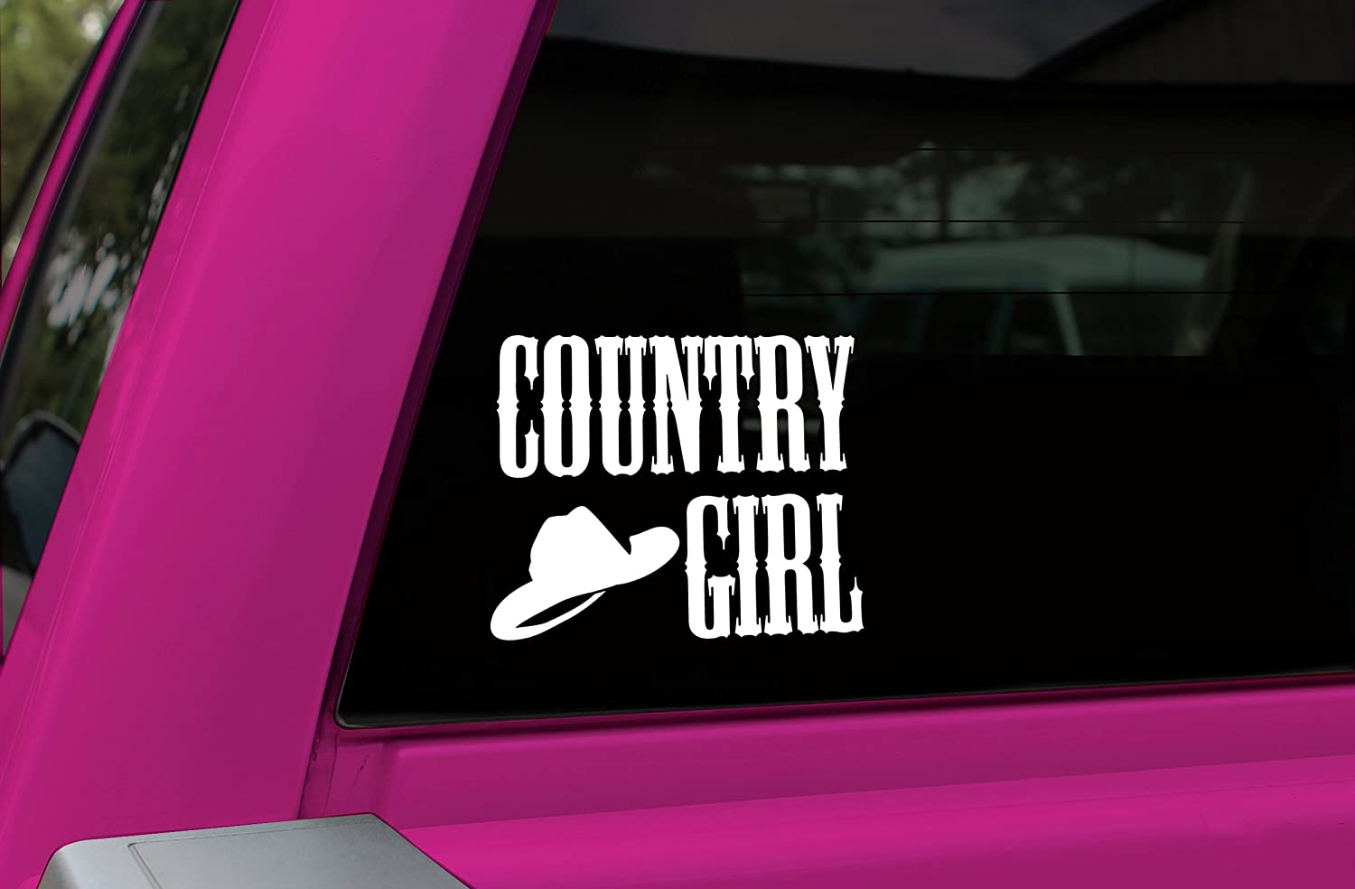 White  Die Cutz Decal Chroma Graphics Chroma 3665 Country Girl 5.1 x 4.4