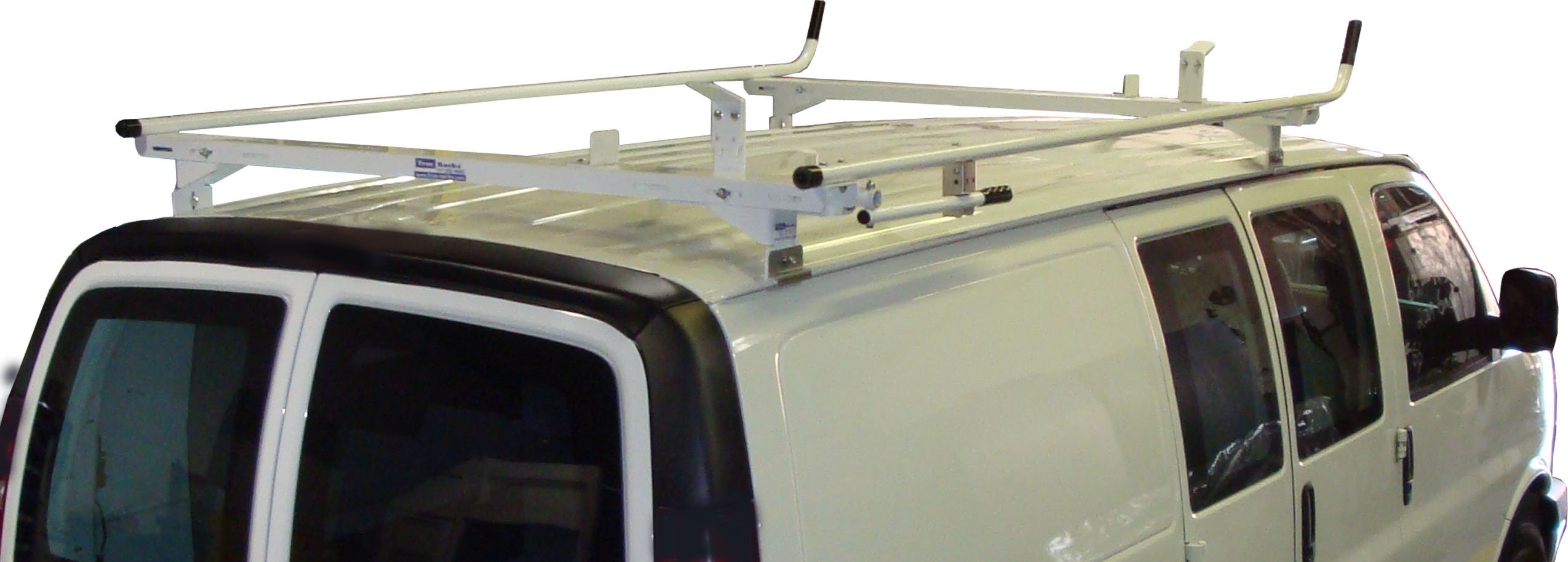 Aluminum Van Ladder Rack - Ford Econoline - Single Lock Down by True Racks (Image #2)
