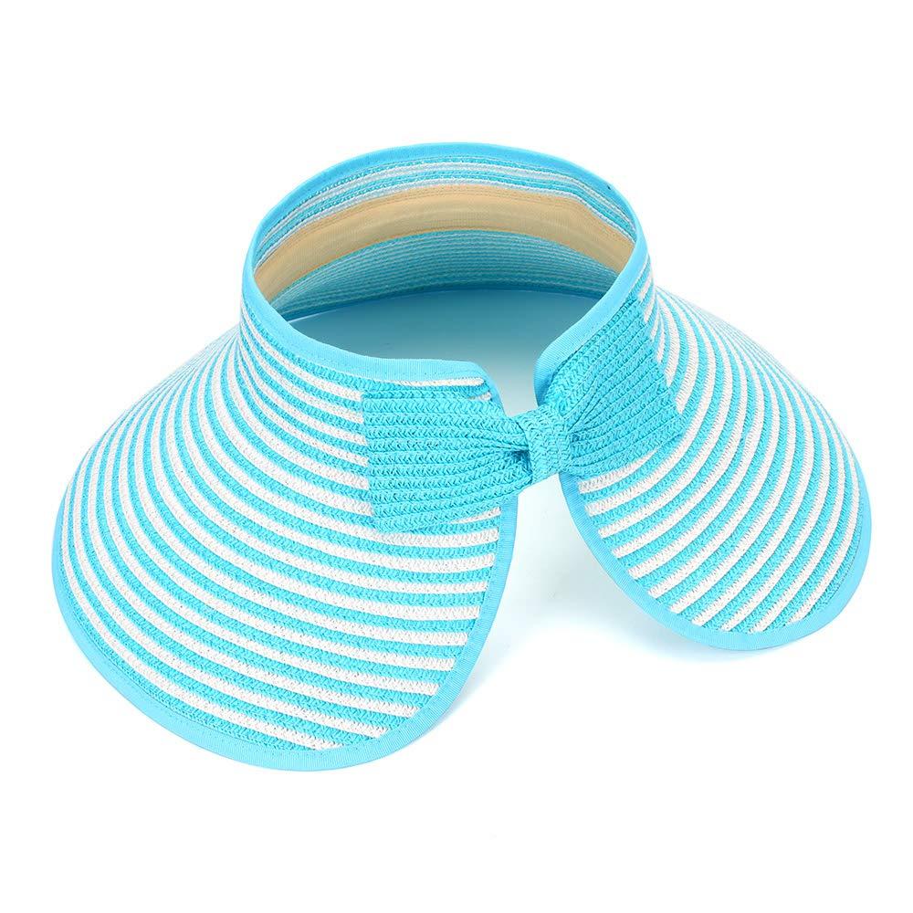 MK MATT KEELY Large Beach Straw Sun Hats Women Foldable Wide Brim Hat for Ladies Visor Cap Bucket with Bowknot