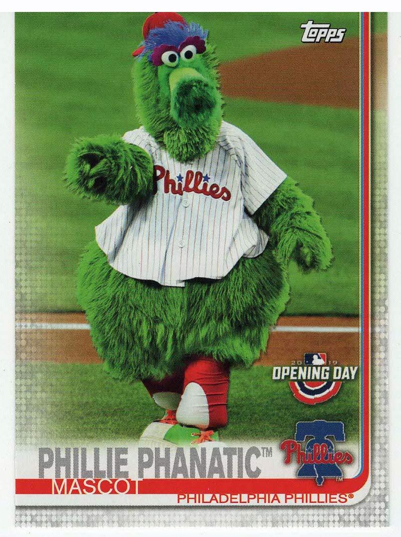 Baseball Card Phillie Phanatic Philadelphia Phillies 2019 Topps Opening Day Mascots # M-21 Mint