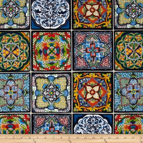 Elizabeth's Studio Fiesta Tiles Royal Fabric By The Yard