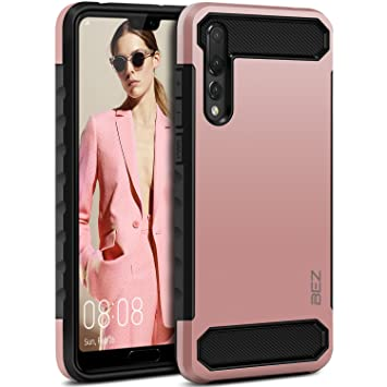 BEZ Funda Huawei P20 Pro, Carcasa Compatible para Huawei P20 Pro Ultra Híbrida Gota Protección, Cover Anti-Arañazos con Absorción de Choque ...
