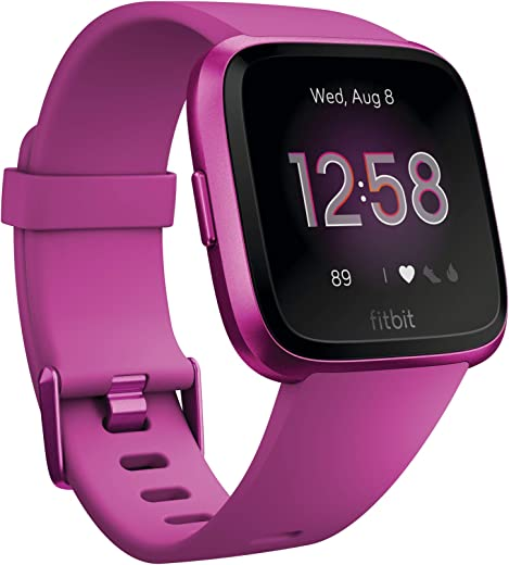 Fitbit Versa Lite Edition Smart Watch, One Size (S and L Bands Included), 1 Count