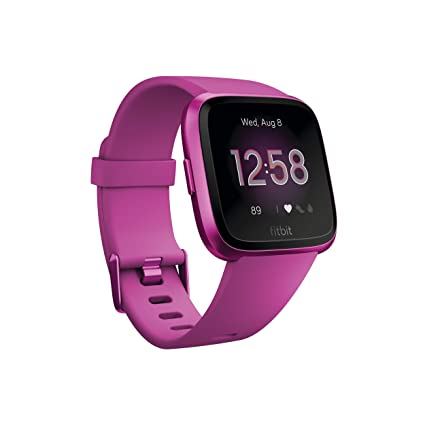 Amazon.com: Reloj inteligente Fitbit Versa, talla única ...