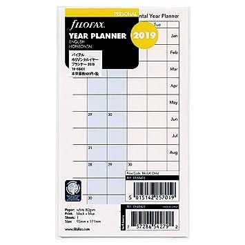 Filofax Personal Año Planner horizontal 2019 (19 – 68401)
