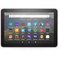"Fire HD 8 tablet, 8"" HD display, 32 GB, designed for portable entertainment, Plum"