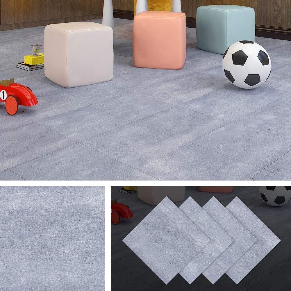 Livelynine Peel and Stick Floor Tile Granite Floor Tiles Vinyl Flooring Tile Adhesive Vinyl Tiles 12x12 Inch 4 Pack Waterproof Flooring Stickers Gym Floor Bedroom Kitchen