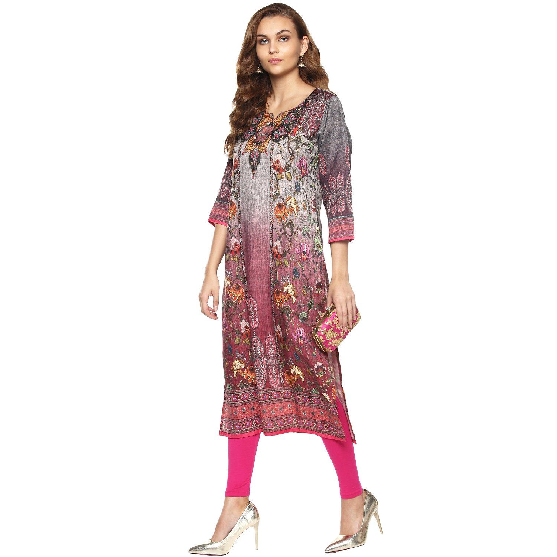 Lagi Kurtis Ethnic Women Kurta Kurti Tunic Digital Print Top Dress Casual Wear New Launch by Magenta