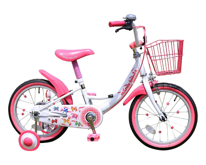 GRAPHIS(グラフィス) 補助輪付き子ども用自転車 16インチ リボンカラー GR-16R B00YDOQPVMホワイト×ピンク