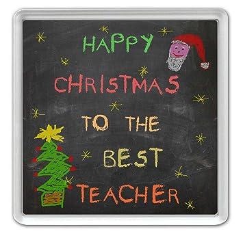 Happy Weihnachten der Best Teacher – Schule Tafel Stil Acryl ...