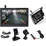 """Elinz 5"""" Car Wireless Reversing Camera Monitor Rear View Kit 120° Wide View Angle Night Vision CCD Reverse 12V 24V"""