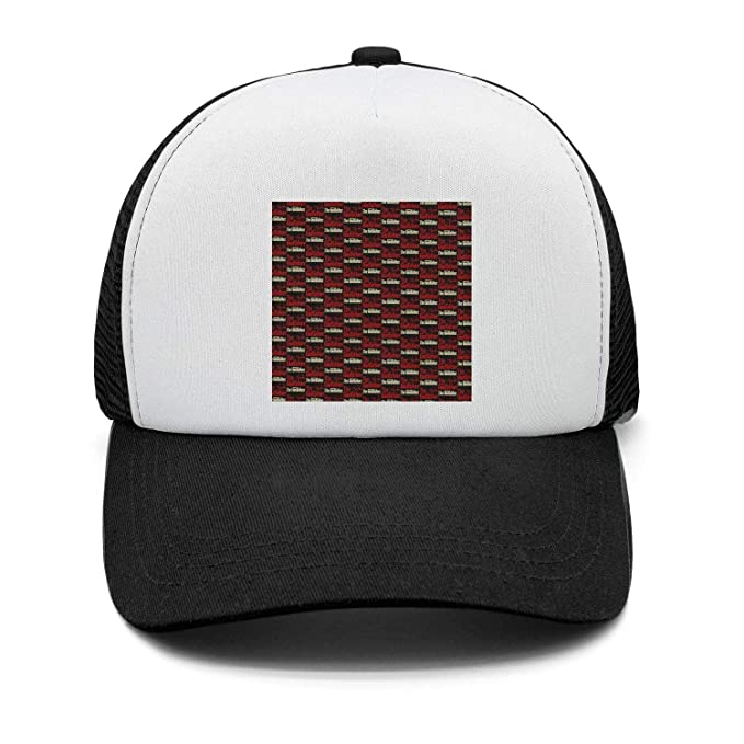 327290d445c The-Godfather-Logo-Distressed-red- Baseball Cap Men Women Style Black  Trucker Hats at Amazon Men s Clothing store