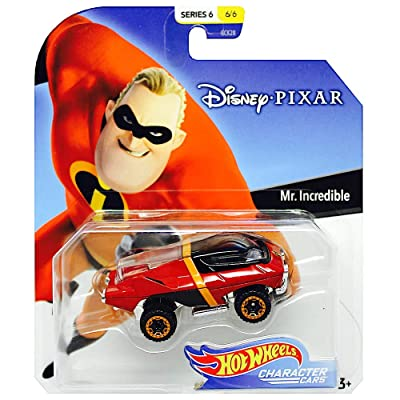 Disney Hot Wheels Mr. Incredible Character Car, Series 6, 1:64 Scale: Toys & Games
