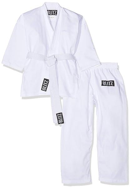 Blitz Sports Traje de Karate los Niños Estudiante - Blanco ...