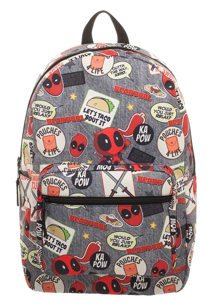 Marvel Deadpool Patches Laptop Backpack by Bioworld