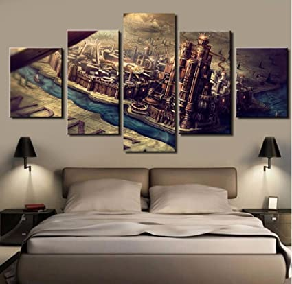 5pcs Framed Game Of Thrones Canvas Prints 5 Piece Famous Show Game Of Thrones Artwork Canvas Painting On Wall Art For Office And Home Wall Decor