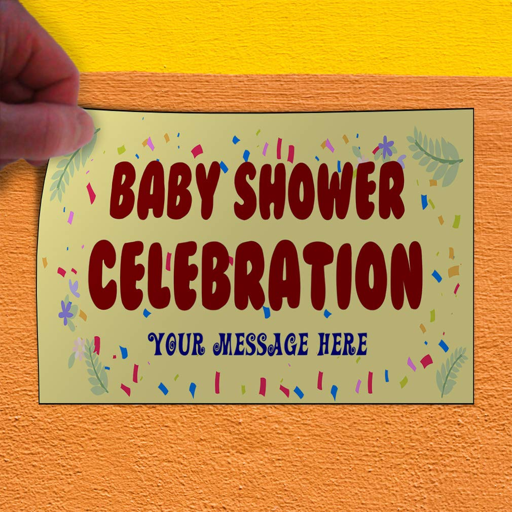 Message Lifestyle Baby Shower Celebration Outdoor Luggage /& Bumper Stickers for Cars Yellow 54X36Inches Set of 5 Custom Door Decals Vinyl Stickers Multiple Sizes Baby Shower Celebration