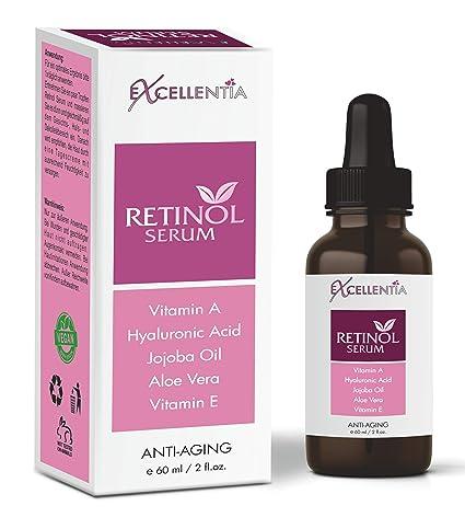 Bio retinol Serum Antienvejecimiento con ácido hialurónico – 60 ml/eficaz contra todo tipo de