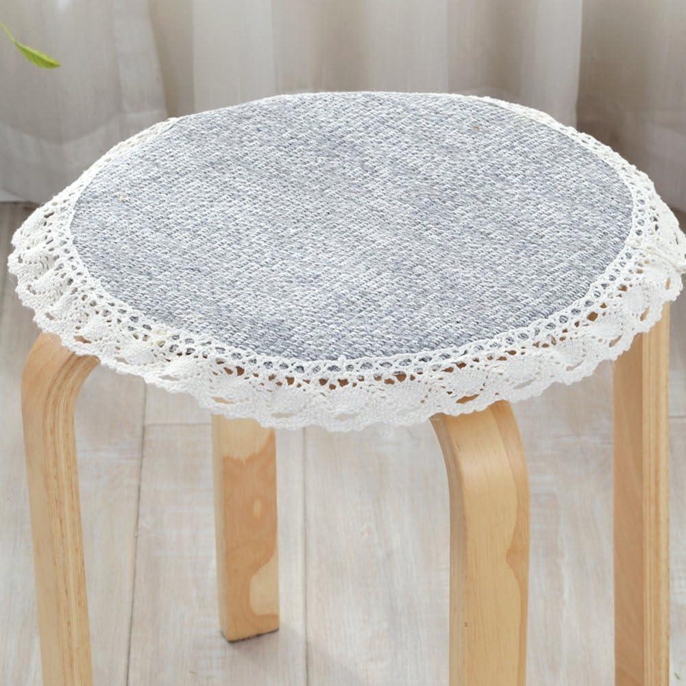 xinping Chair Pads Galette de Chaise rembourr/é antid/érapant Tabouret Chaise Pad Coussin Rond N diameter30cm 12inch