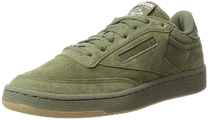 7154f369f29 Amazon.com  Reebok Club C 85 Gum Hunter Mens Trainers Green - 7 UK ...