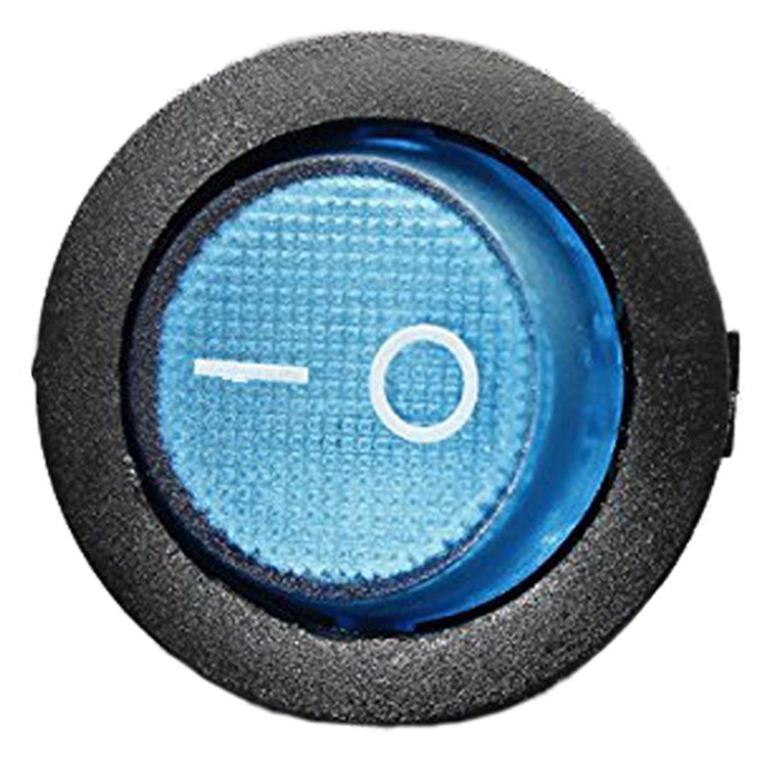 Voiture Bateau Rocker Switch SODIAL Rouge 12V 16A LED Interrupteur a Bascule Bipolaire ON//OFF SPST pour Auto Moto Bateau R