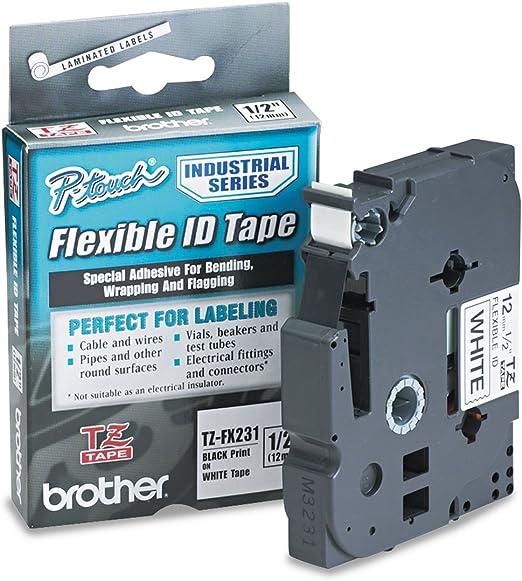 2 Farbbänder Newserie für Brother TZ 731 8m//12mm P-Touch 1005BTS 1000 1010
