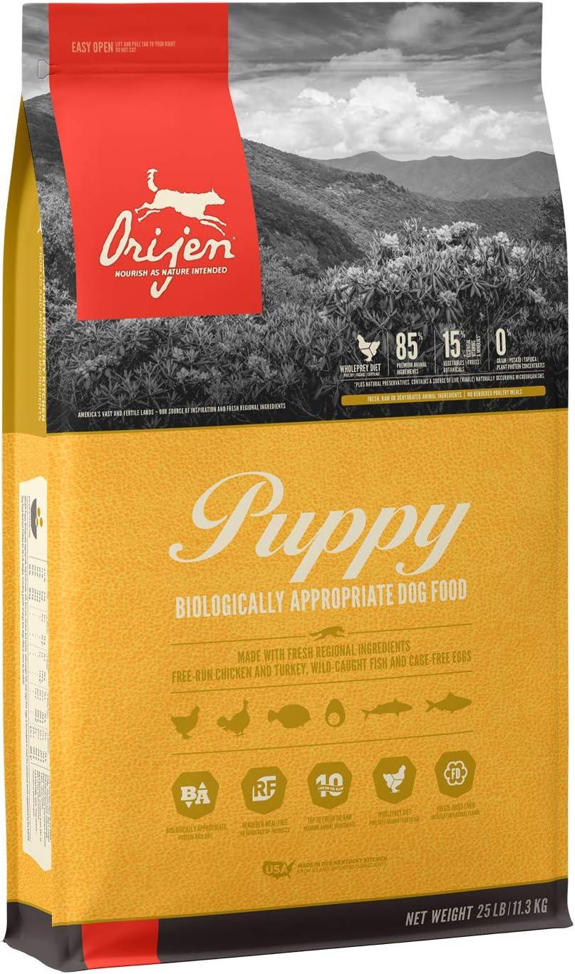 ORIJEN Puppy High-Protein, Grain-Free, Premium Quality Meat, Dry Dog Food