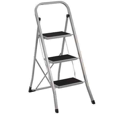 Haushaltsleiter Klapptritt 4 Stufen Stehleiter Stahl Trittleiter Leiter