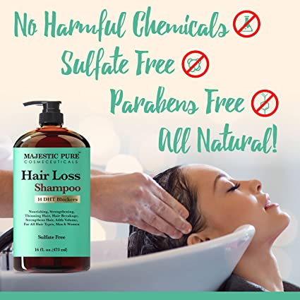 Majestic Pure Hair Loss Shampoo, All natural, Chemicals Free