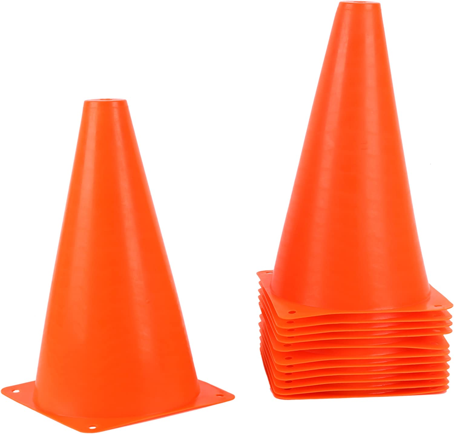Juvale 9 Inch Orange Plastic Sports Safety Parking Cones (12 Pack) : Sports & Outdoors
