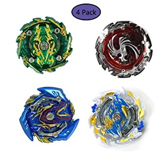 szjckj 4 Pack Trottole da Combattimento - Beyblade Burst - Giocattoli educativi - 4 Set Beyblade Toy Kids ( 4 Trottole + 4 Il trasmettitore ) - -B133-B134-B135-B131