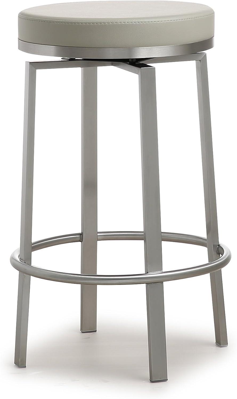 Tov Furniture Pratt Collection Indoor/Outdoor Counter Stool, Set of 2, Grey