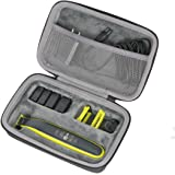co2crea Hard Travel Case for Philips Norelco OneBlade QP2520/90 / QP2630/70 / QP2520/72 Face Body hybrid electric trimmer shaver (Black Case)