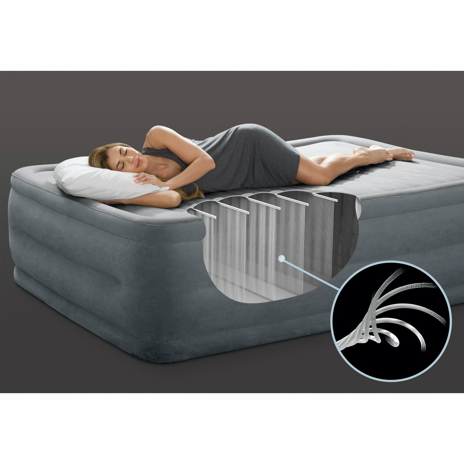 Intex Comfort Plush Elevated Dura-Beam Airbed with Built-in Electric Pump, Bed Height 18'', Twin by Intex (Image #6)